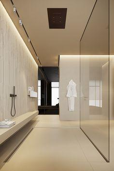 Interior Design Magazine, Interior Design Services, Bathroom Interior Design, Dark Interiors, House Layouts, Modern Bathroom, Service Design, New Homes, House Design