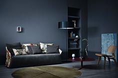 Sofa Bustier by Saba Italia  www.sabaitalia.it  #saba #sabaitalia #italia #bustier #sofa #interior #design #interiordesign #fabric #furniture #designer #furnishing #living #home #collection #comfort #modern #madeinitaly #grey #pattern