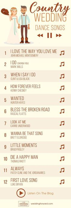 33 Country Wedding Songs To Walk Down The Aisle ❤️ There are also plenty of country wedding songs to walk down the aisle to your beloved.See more: http://www.weddingforward.com/country-wedding-songs/ #country #wedding #songs