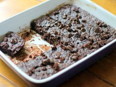 Flourless Chocolate Chip Zucchini Oat Brownies. I made this decadent recipe for a potluck at work… It was gobbled up by my co-workers and my husband who doesn't like anything new… even thought that it was good.