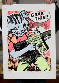 Image of 'Grab this' limited edition screenprint by Ben Rider