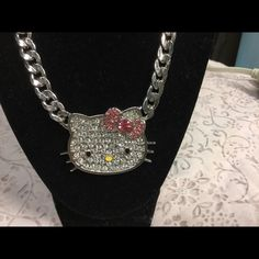 "Selling this ""Hello Kitty Rhinestone Chain Link necklace"" in my Poshmark closet! My username is: kennjenn2010. #shopmycloset #poshmark #fashion #shopping #style #forsale #Hello Kitty #Jewelry"