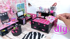 DIY Miniature Captain's Bed (Day Bed) with Drawer & Bookcase for LOL, LP...