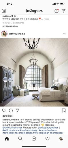 Black Iron Chandelier, Iron Chandeliers, Guest Bedrooms, Master Bedroom, Bedroom Themes, Bedroom Decor, Coverlet Bedding, Cozy Chair, White Sheets