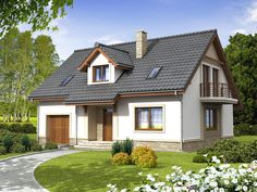DOM.PL™ - Projekt domu ARN MARCEPAN paliwo stałe CE - DOM RS1-58 - gotowy projekt domu My Dream Home, House Plans, Shed, New Homes, Outdoor Structures, House Design, Mansions, Nice, House Styles