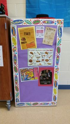 Filing cabinet bulletin board #1 | My Spanish classroom ...