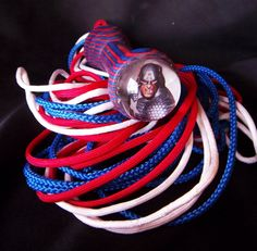 Captain America inspired BDSM Flogger by GeekKink on Etsy, $55.00
