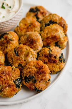 Spinach and Artichoke Sweet Potato Chicken Poppers | Unbound Wellness