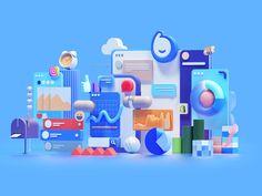 Web Design, Flat Design, Motion Design, Design Thinking, Graphic Design Illustration, Illustration Art, 3d Studio, Splash Screen, 3d Artwork