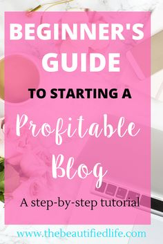 So you've decided you want to start a profitable blog. This is a step-by-step guide showing you exactly how to do just that! You'll learn how to choose a platform, a host, how to choose a theme,how to write a blog post, and so much more!