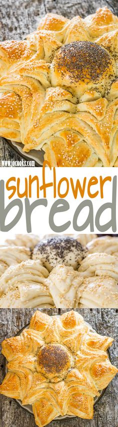 Sunflower Bread - complete with step by step photo instructions.