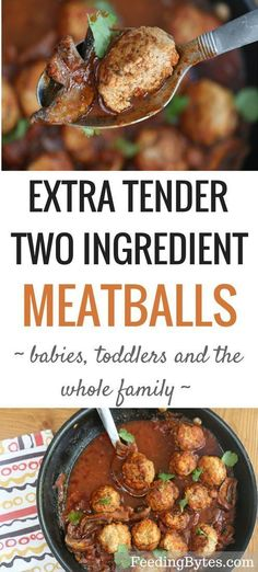 The meatballs are the ultimate kid-friendly iron rich food. With just 2 ingredients, tender texture and mild flavor, they make a quick and easy family… – Organics® Baby food Turkey Recipes, Baby Food Recipes, Dinner Recipes, Healthy Recipes, Meal Recipes, Family Recipes, Healthy Lunches, Meatball Recipes, Healthy Dinners