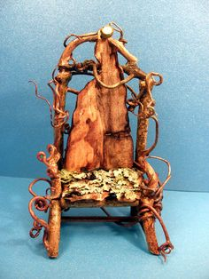 Fairy Garden Chair - One of a Kind Fae Furniture Miniatures