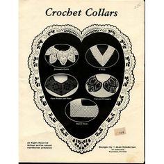 Crochet : Collars Crochet Patterns Pineapple Points Filet Flower and Pearl Fan etc