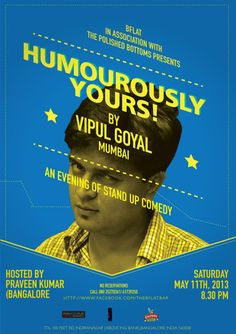 An evening of stand up comedy..Enjoy with your beloved ones..