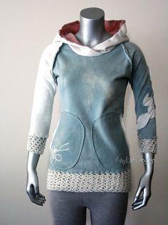 Women's sweatshirt hoodie  KT554 by KayLim on Etsy