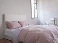 The Linen Works Rose Linen Bed Linen | Duvet Covers | Bed Linen | Bedroom | Heal's