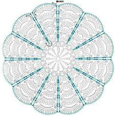 Crochet Knitting Handicraft: Mats for seats Motif Mandala Crochet, Crochet Rug Patterns, Crochet Circles, Crochet Motifs, Crochet Diagram, Doily Patterns, Crochet Chart, Thread Crochet, Crochet Designs