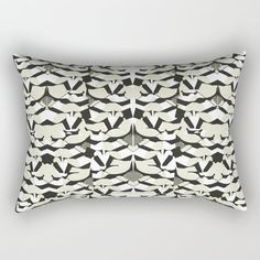 Abstract Geometric Pattern in Constrast Colors Rectangular Pillow Down Pillows, Bed Pillows, Accent Pillows, Pillow Inserts, Hand Sewing, Abstract, Colors, Pattern, Home Decor