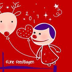 Kerstkaart CliniClowns Kerst 3, verkrijgbaar bij #kaartje2go voor €1,89