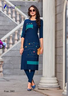 Rangjyot Keshvi Vol 2 Rayon with Work Straight Readymade Kurtis at Wholesale Rate Kurti Collection, Winter Collection, Kurti Neck Designs, Dress Indian Style, Russian Fashion, Shalwar Kameez, Indian Ethnic Wear, Indian Fashion, Evening Gowns