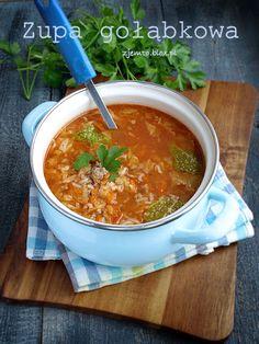 Zupa gołąbkowa – Zjem to! Kitchen Recipes, Soup Recipes, Dinner Recipes, Cooking Recipes, Health Dinner, Fast Dinners, Polish Recipes, Lentil Soup, Bon Appetit