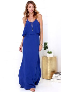 On the Silver Screen Royal Blue Maxi Dress | Blue, Wedding and ...