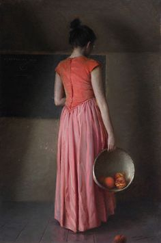 Alex Venezia Disappearing, Oil on panel, 36 x 24 inches