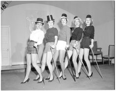 Photo dated 2/4/1958 and labeled Delta Gamma benefit skit - any sleuths out there know the chapter?