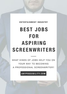 What are the best day jobs for aspiring screenwriters? Ideally, we want to sell a script right away and then sell 20 more, but just in case it takes a little time, you want to get a job. Some jobs for aspiring screenwriters are better than others. Check out your options by clicking the image above and reading the full post.