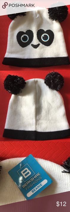 Adorable Panda knit Hat 🐼 Warm cute winter hat 🐼 Berkshire Fashions Accessories Hats