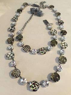 Animal print necklace set