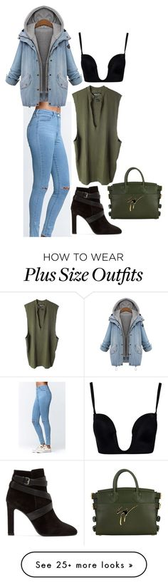 """Untitled #175"" by grosa774 on Polyvore featuring Bullhead Denim Co., adidas Originals, Wonderbra, Yves Saint Laurent and Giuseppe Zanotti"