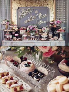 Dessert tables are becoming more and more popular and we can see why if these pretty ideas are anything to go by!