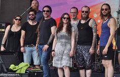 Eluveitie 2015 - Nicole,Matteo,Merlin,Chrigel,Anna,Ivo,Kay and Rafael