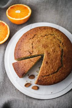 Torta con grano saraceno, mandorle, vaniglia e arancia, by Vanigliacooking