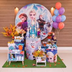 Frozen Themed Birthday Party, Disney Frozen Birthday, 4th Birthday Cakes, 4th Birthday Parties, Frozen Party, Birthday Party Decorations, 2nd Birthday, Party Favors, Mickey Mouse Parties