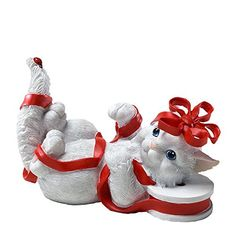 Charming Purrsonalities All Wrapped up in Holiday Fun Figurine ** Check out the image by visiting the link. Old World Christmas Ornaments, Christmas Ribbon, Christmas Cats, Cat Decor, White Cats, Collectible Figurines, Kitsch, Holiday Fun, Charmed