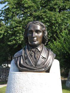 Statue of France Prešeren in front of house where he was born #Vrba #BirthPlace #FrancePrešeren #Prešeren #SloveniaPoet #SloveneLiterature #Slovenia #SlovenianPoems #SlovenianPoet #EuropeanPoet