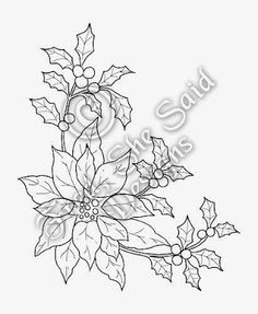 Fred, She Said - Digital Design & Papercrafting Goodness: NEW Poinsettia & Holly