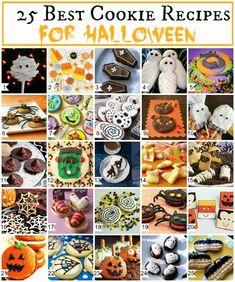 25 Best Halloween Cookies - Great for your favorite ghouls and goblins! #halloween #cookies