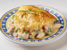 Bisquick Chicken Pot Pie :   Side note: SOOO easy & really really tasty! I used a whole 16 oz bag of frozen veggies and I didn't bother to thaw it out ;)