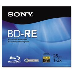 SONY BNE25RH 25 GB BLU-RAY DISC? BD-RE by Sony. $12.20. SONY BNE25RH 25 GB BLU-RAY DISC? BD-RE