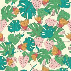 Tropical Foliage Art Print by Patricia Sodre | Society6