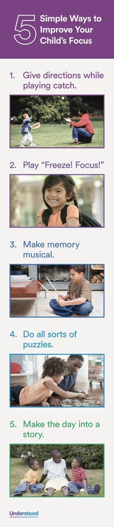 Getting a child with ADHD to concentrate can be a real challenge. Here are some easy and fun strategies to help your child improve his ability to focus.