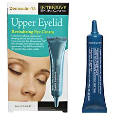 Dermactin-TS Upper Eyelid Revitilizing Cream helps firm and tone sagging and drooping skin on the upper eye lids.