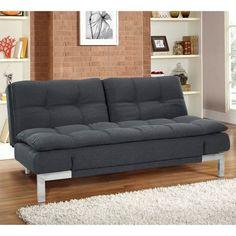 Serta Dream Convertible Boca Sofa - Charcoal - SABOCS3U4CC