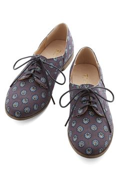 Step Rally Flat. Your pals are always rallying around to see what fab fashions youre flaunting  today, its these navy canvas flats by Restricted. #blue #modcloth