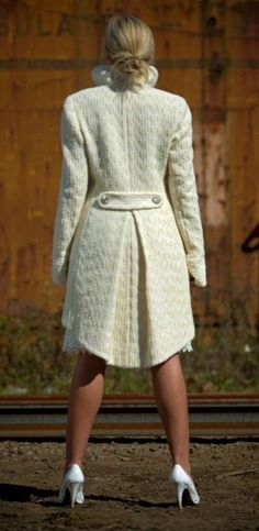 Giacche e coprispalle per le spose d'inverno - Cappotto bianco da sposa