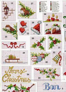 Christmas miniature. Cross stitch charts